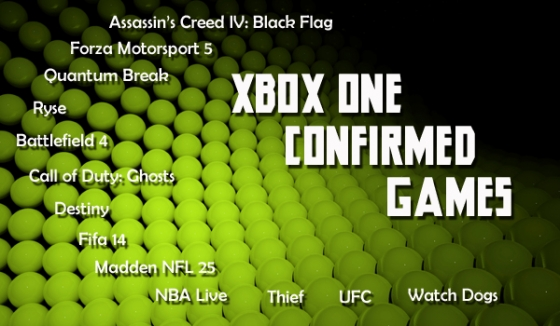 xbox one confirmed games
